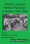 Church, Law and Political Transition in Malawi 1992-1994